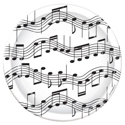 Musical Notes Plates and Napkins