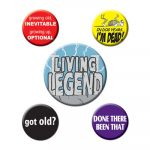 Over the Hill Party Buttons