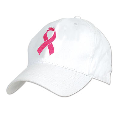 Embroidered Pink Ribbon Cap - Breast Cancer Awareness