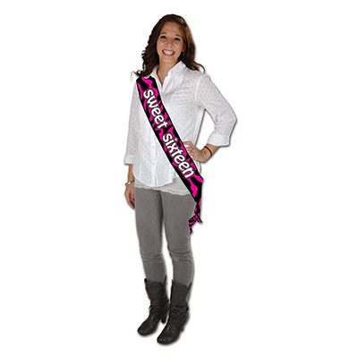 Sweet Sixteen Satin Sash