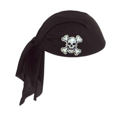 Pirate Scarf Hat Black Red Pink