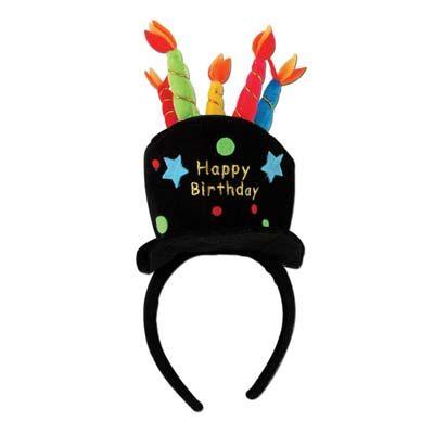 Plush Birthday Cake Headband