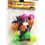 5 Inch Neon Plastic Maracas with Black Handle