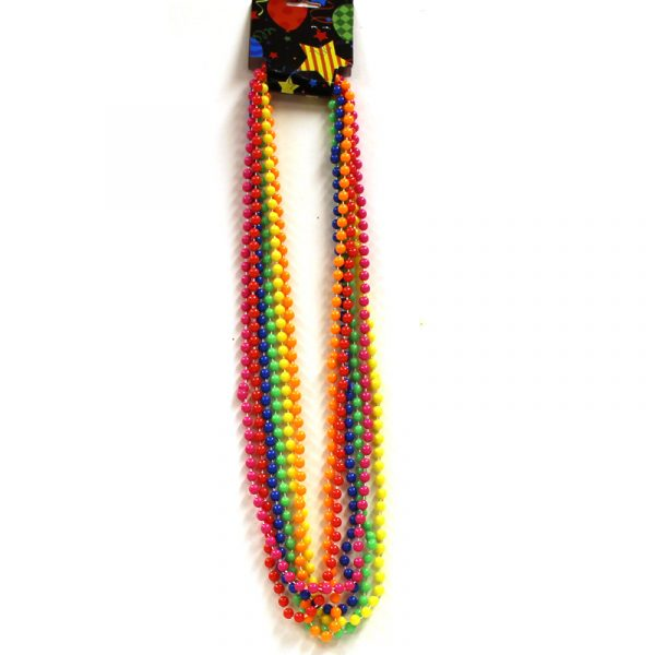 Round Opaque Party Bead Necklaces