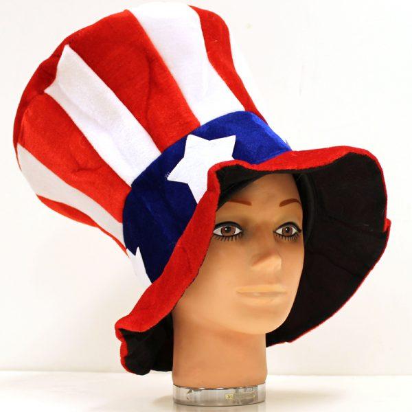 Velvet and Felt Fabric Uncle Sam Top Hat