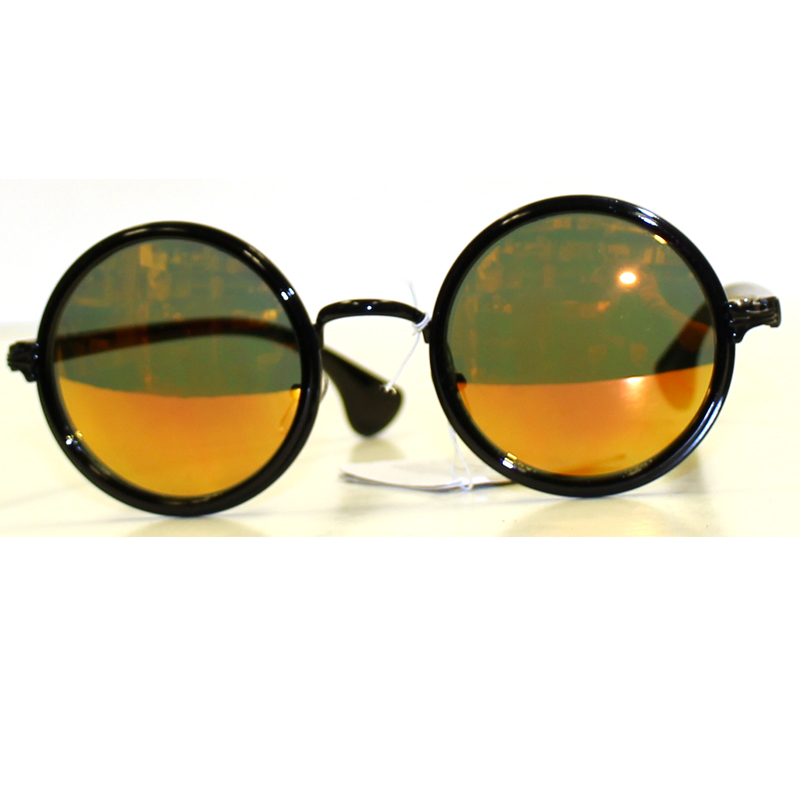 Buy Round Colored Mirror Lens Sunglasses - Cappel s 88b67855d49