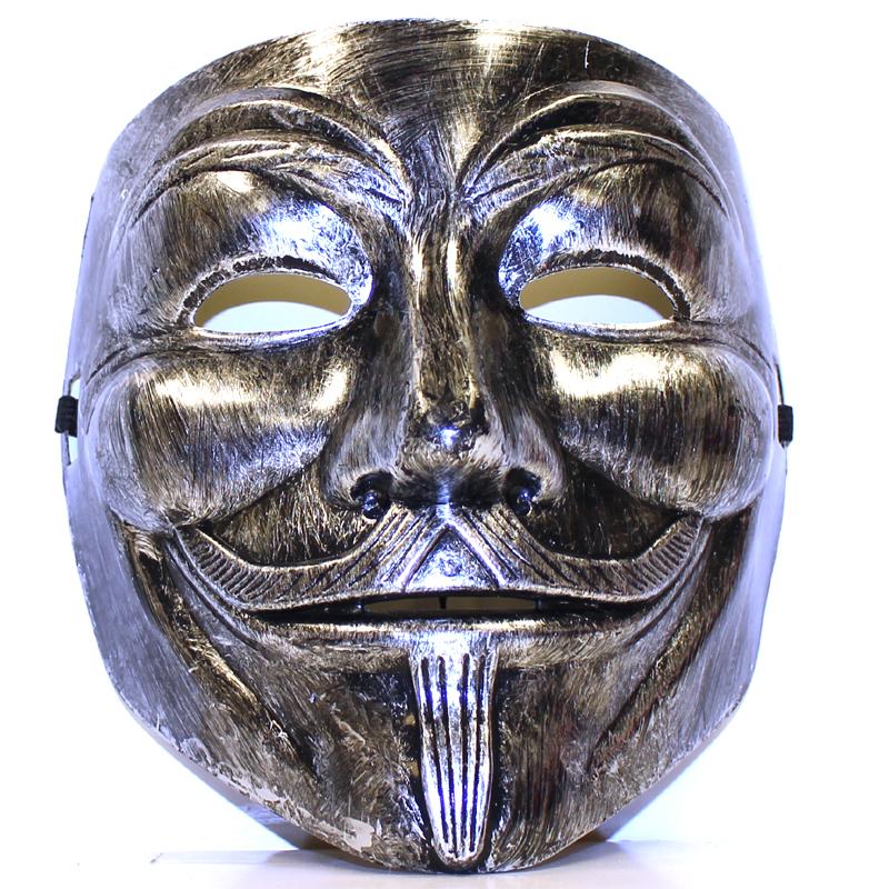 Costume Promo Plastic Moustache Man Full Face Mask
