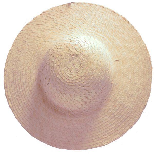 16 Inch Round Natural Straw Hat