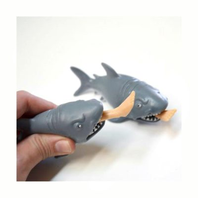 "5"" Squeeze Rubber Shark with Leg"
