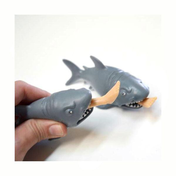 """5"""" Squeeze Rubber Shark with Leg"""