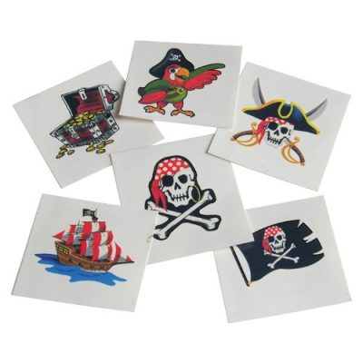 Assorted Pirate Small Temporary Tattoos