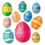 Easter Egg Cutouts 10 Package