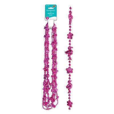 Flamingo and Hibiscus Beads
