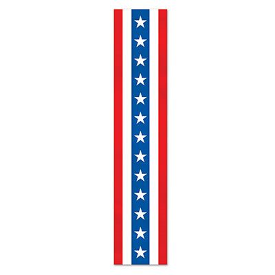 Patriotic Fabric Column Bunting