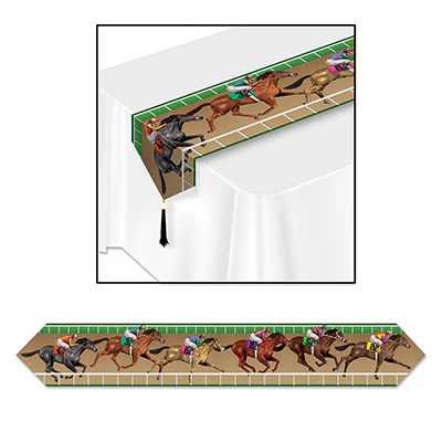 Printed Horse Racing Table Runner