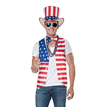 Patriot Man Kit Vest Hat Bow Tie