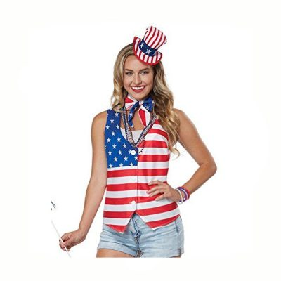 Patriot Woman Vest Scarf Hat