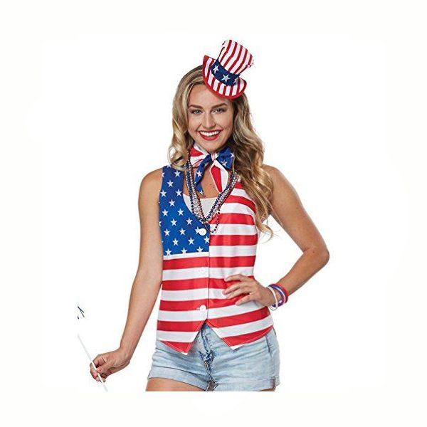 Patriot Woman Vest Scarf Hat