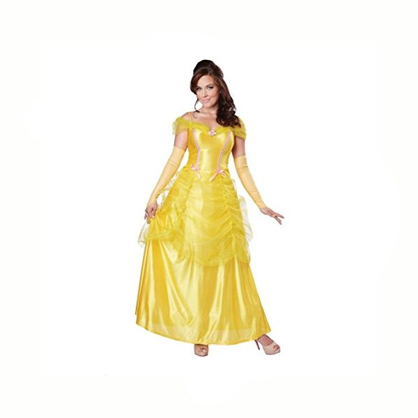 Classic Beauty Disney-Style Yellow Ball Gown