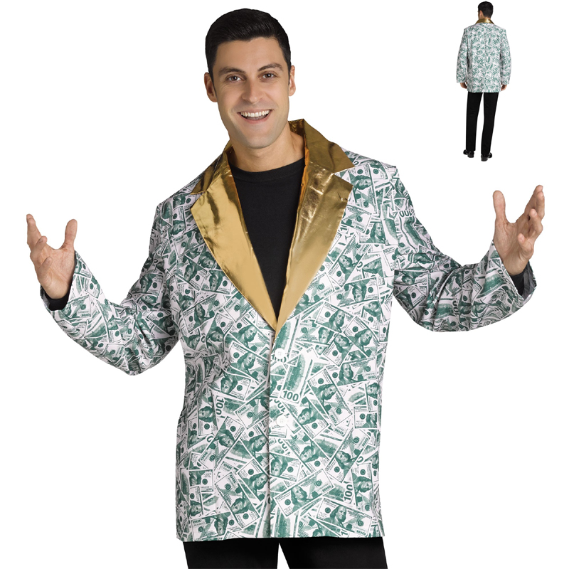 Jacket $100 Bill C-Note Coat Halloween Costume
