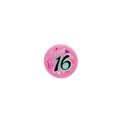 Sweet 16 Satin Birthday Button