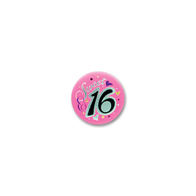 Sweet 16 Satin Birthday Button