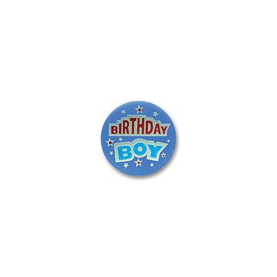Birthday Boy Satin Button