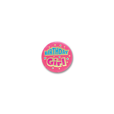 Birthday Girl Satin Button