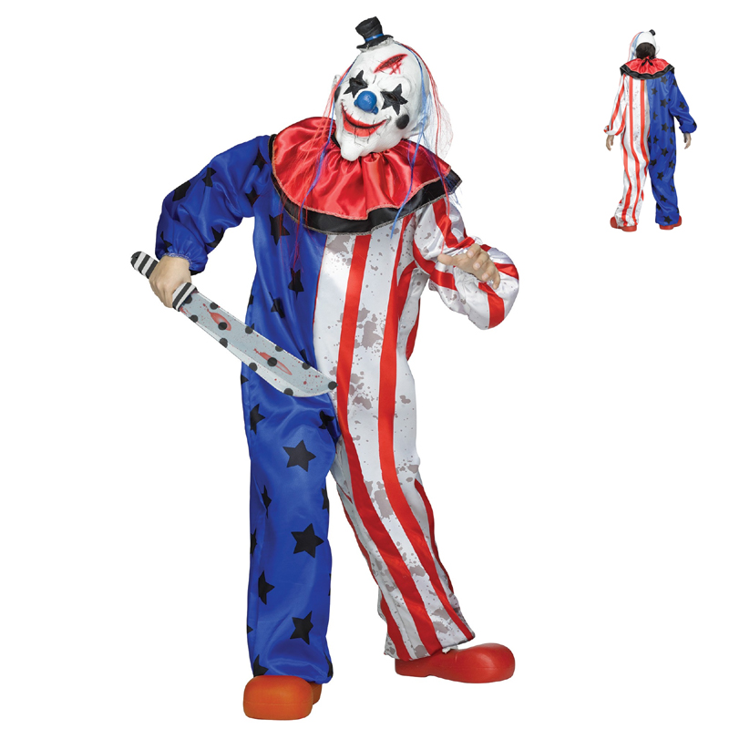evil clown childs scary halloween costume