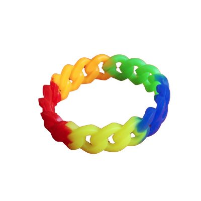 Rainbow Silicone Rubber Bracelet and Necklace