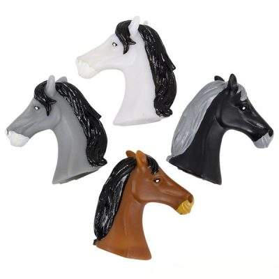 Party Rubber Horse Head Finger Puppets