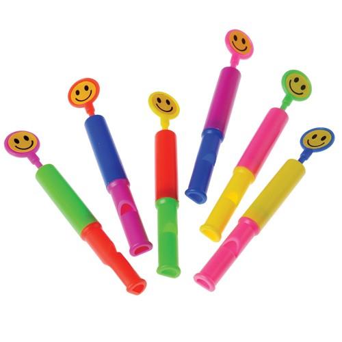 Plastic Smile Face Slide Whistle