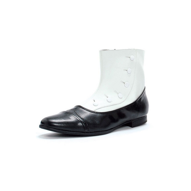 Mens Spat Shoes Black and White