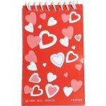 Small Party Hearts Memo Book