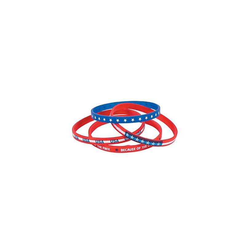 Patriotic Thin Silicone Bracelets