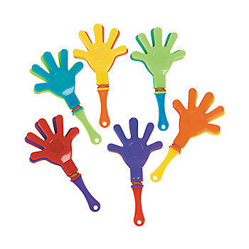 Party Plastic Assorted Hand Clappers