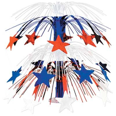 Red White Blue Star Cascade Centerpiece