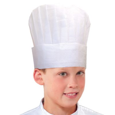 Childs White Paper Chef Hat
