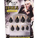 Costume Black Cat Finger Nails