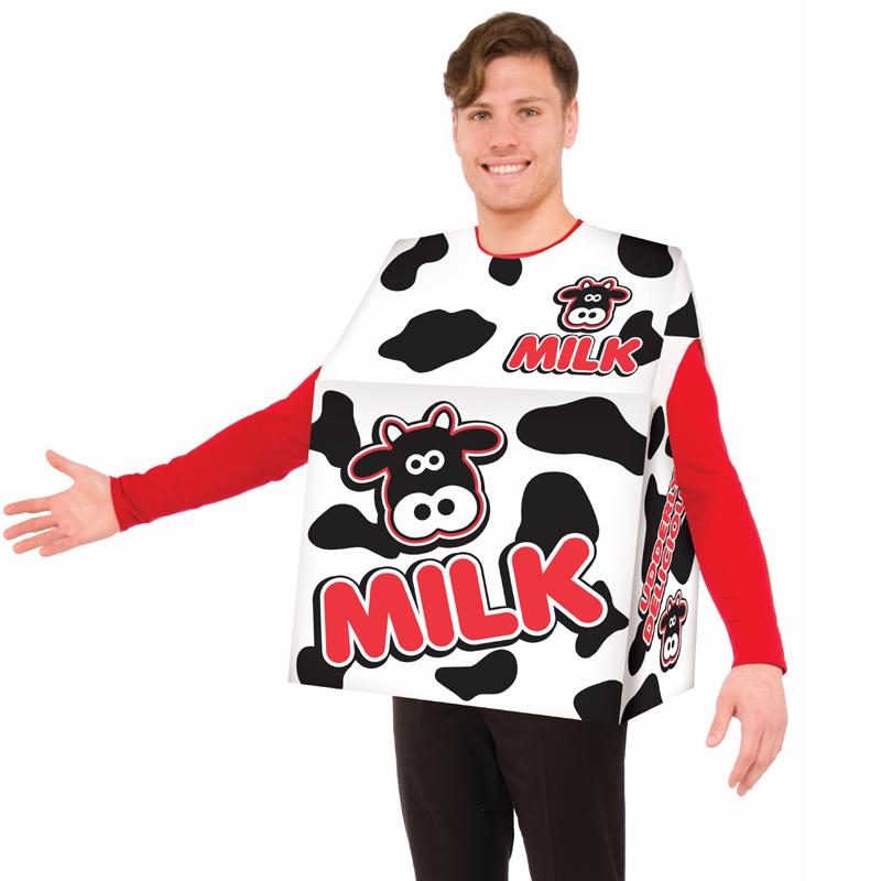 Black White Red Milk Carton Halloween Costume