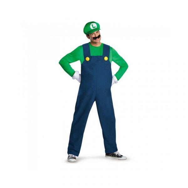 Super Mario Brothers Adult Halloween Costume - Luigi