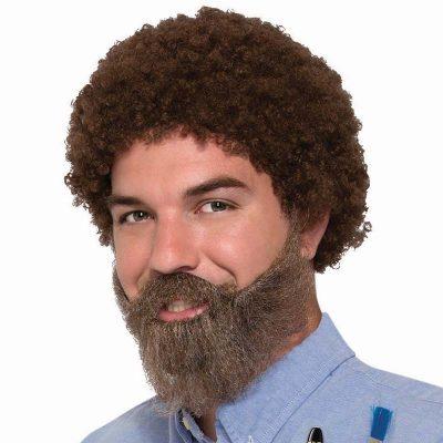 80s artist wig & beard set