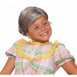 Child Size Old Lady Wig with Bun