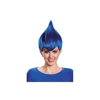 Wild Wacky Dark Blue Troll Wig