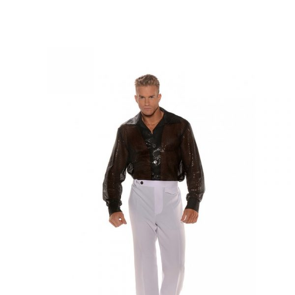 Male Black Sequin Shirt