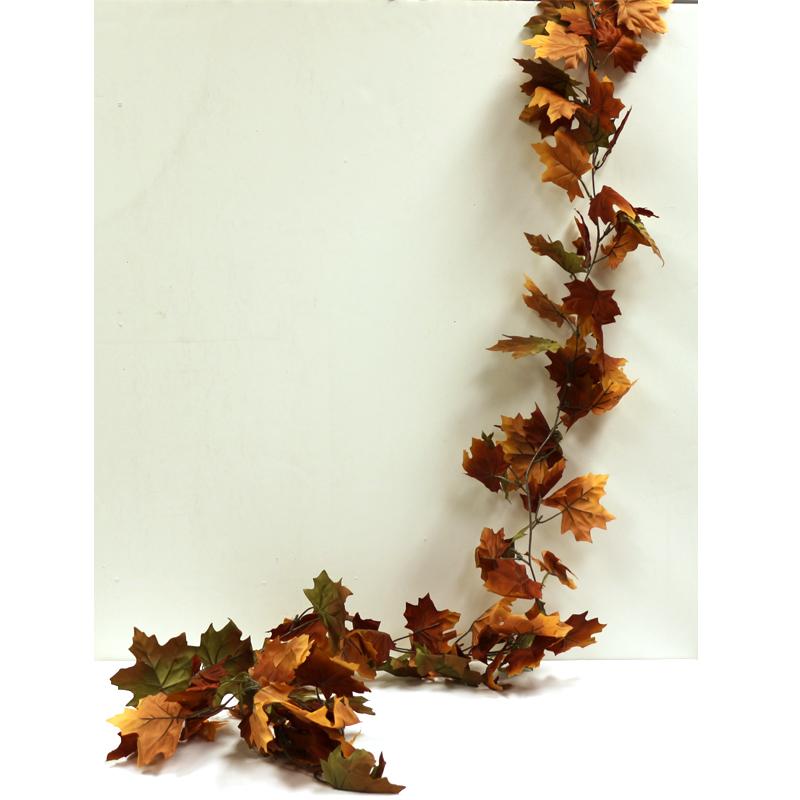 Fall Silk Maple Leaf Garland