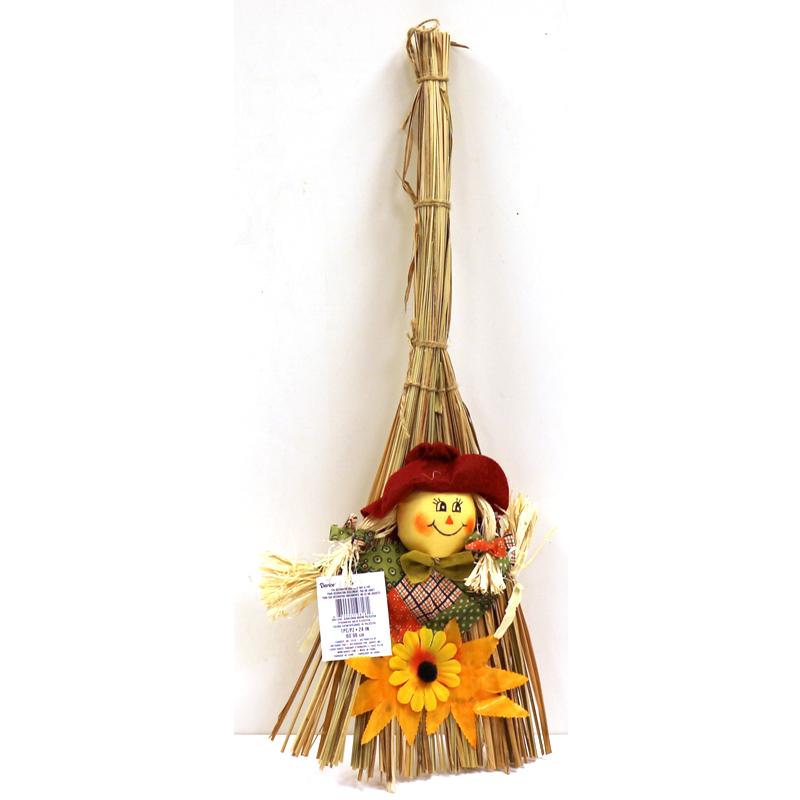 Fall Scarecrow Broom