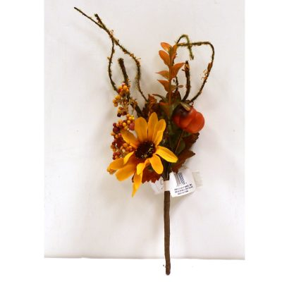 Fall Hand Wrapped Daisy Foliage Pick