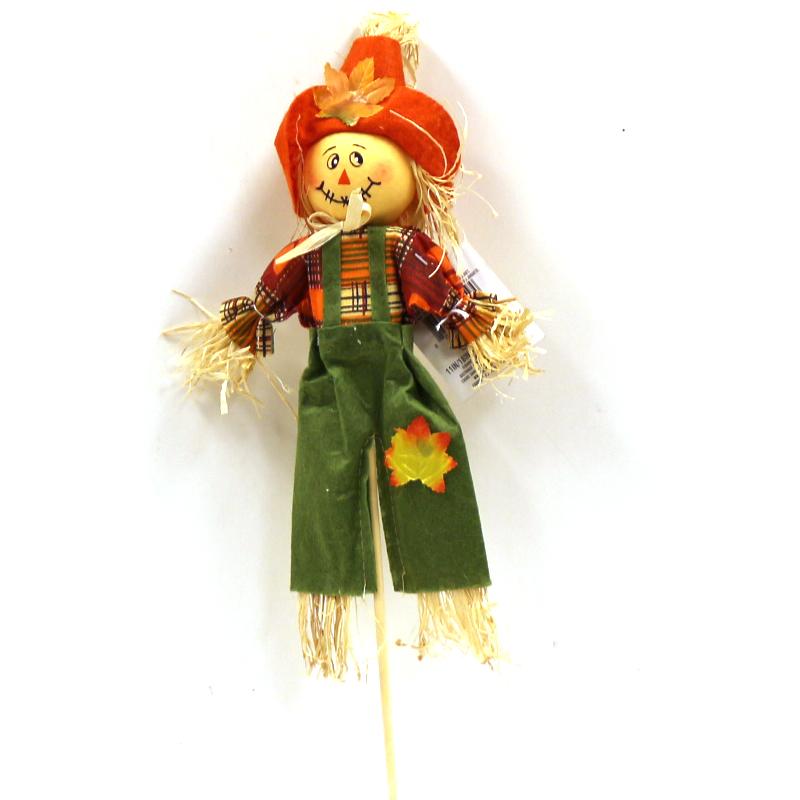 Raffia Scarecrow on a Stick
