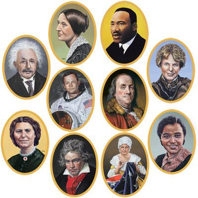 Historical faces cutouts